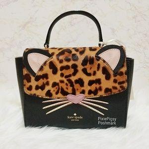 Kate Spade Cat Leopard Kerrie Satchel Crossbody